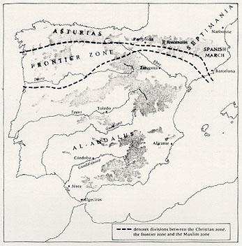 Península ibérica ca. 800